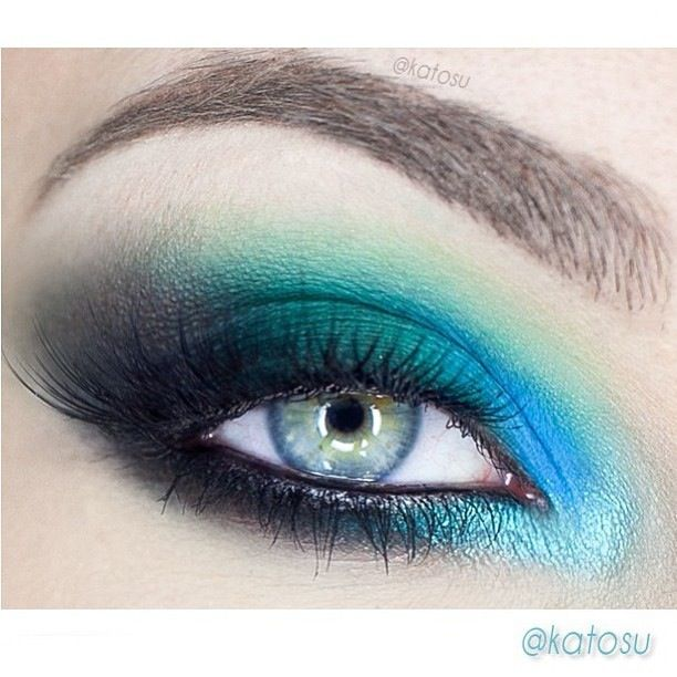 Bright Smokey Teal Eyeshadow Eyeshadows Pinterest Teal