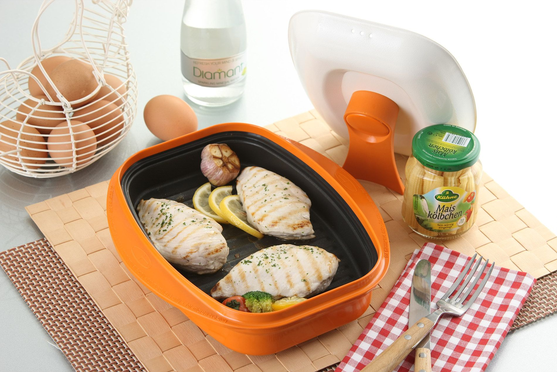 how to cook chicken in microwave grill