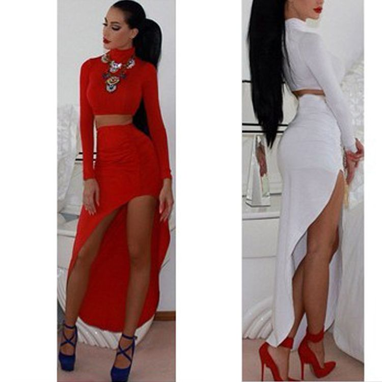 Cheap dress women, Buy Quality dress jilbab directly from China dress snake  Suppliers: New 2015 Women Two Piece Outfits Sexy Turtleneck 2 Piece Set  Bodycon ...