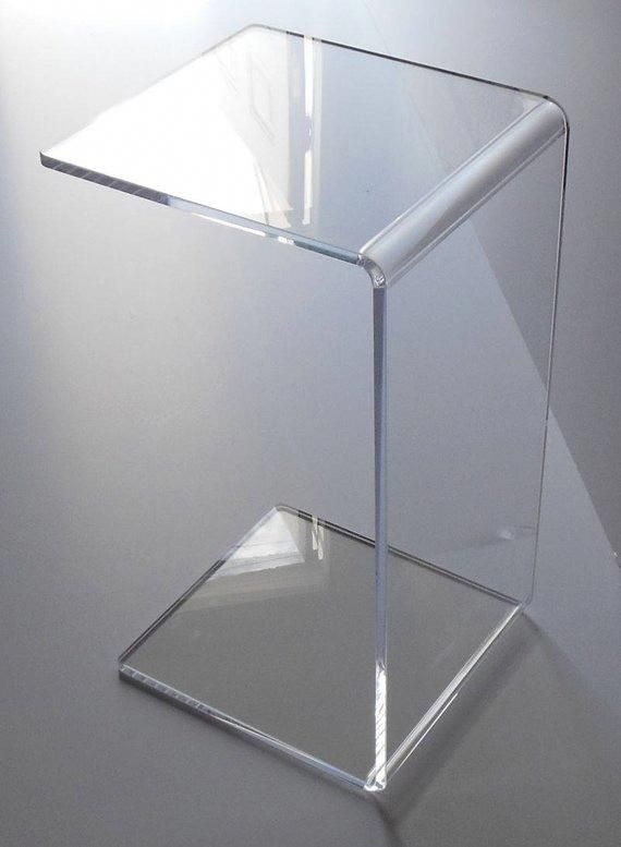 Clear Acrylic Lucite Plexiglass End Slide Table Lucite 23 High Couch Laptop Acrylicfurniture Acrylic Side Table Acrylic Coffee Table Acrylic Furniture