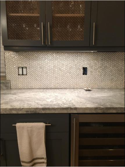 Kitchen Backsplash Mother Of Pearl Tile Home Inspiration
