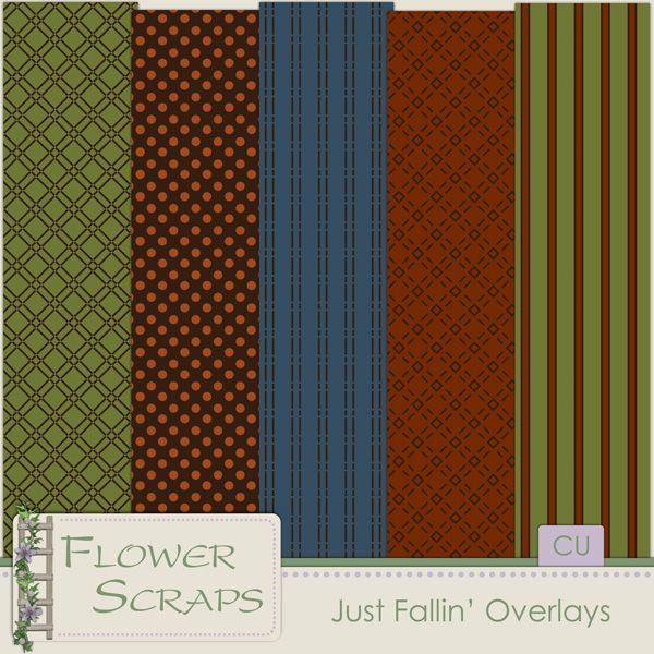 Just Fallin Overlays - $3.99 : Digital Scrapbooking Studio