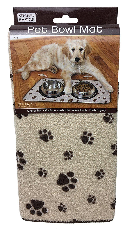 Kitchen basics 423000 pet bowl mat beige to view