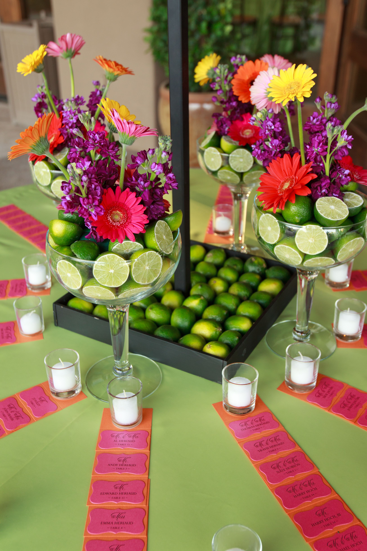 Lime centerpiece | Mexican party theme, Cinco de mayo ...