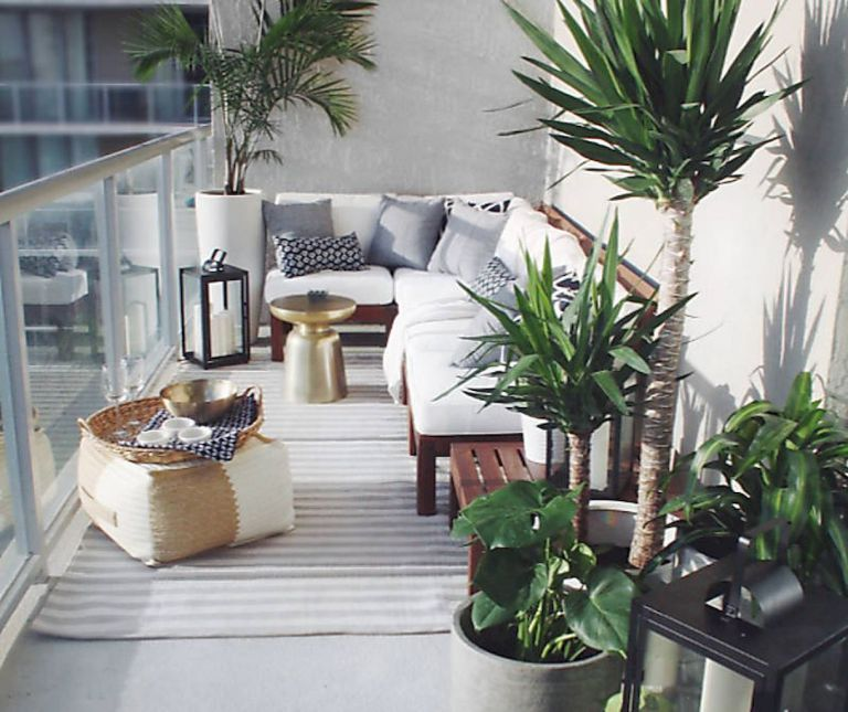 Balcony Furniture Design Ideas: Small Balcony Furniture And Decor Ideas (56)