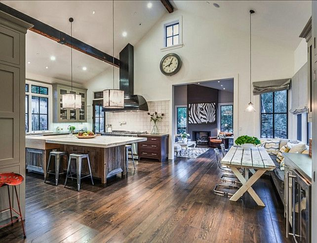Transitional Kitchen. Transitional Kitchen Design Ideas. Transitional  Kitchen With Industrial Vintage Decor. #