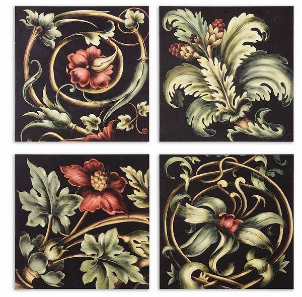 Vibrant Floral Square I,II,III,IV - Set/4 from Uttermost (51011), $119.01