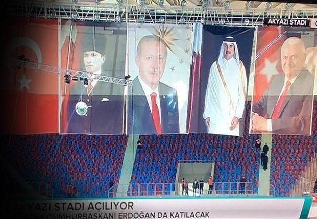 Biliyor muydun ? /// Trabzonspor'un yeni stadının açılışında dikkat çeken kare: Atatürk, Erdoğan, Şeyh Tamim, Yıldırım