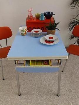Formica Tafel Uitschuifbaar.Uitschuifbare Formica Eettafel Retro Vintage 60 Tafel Lades