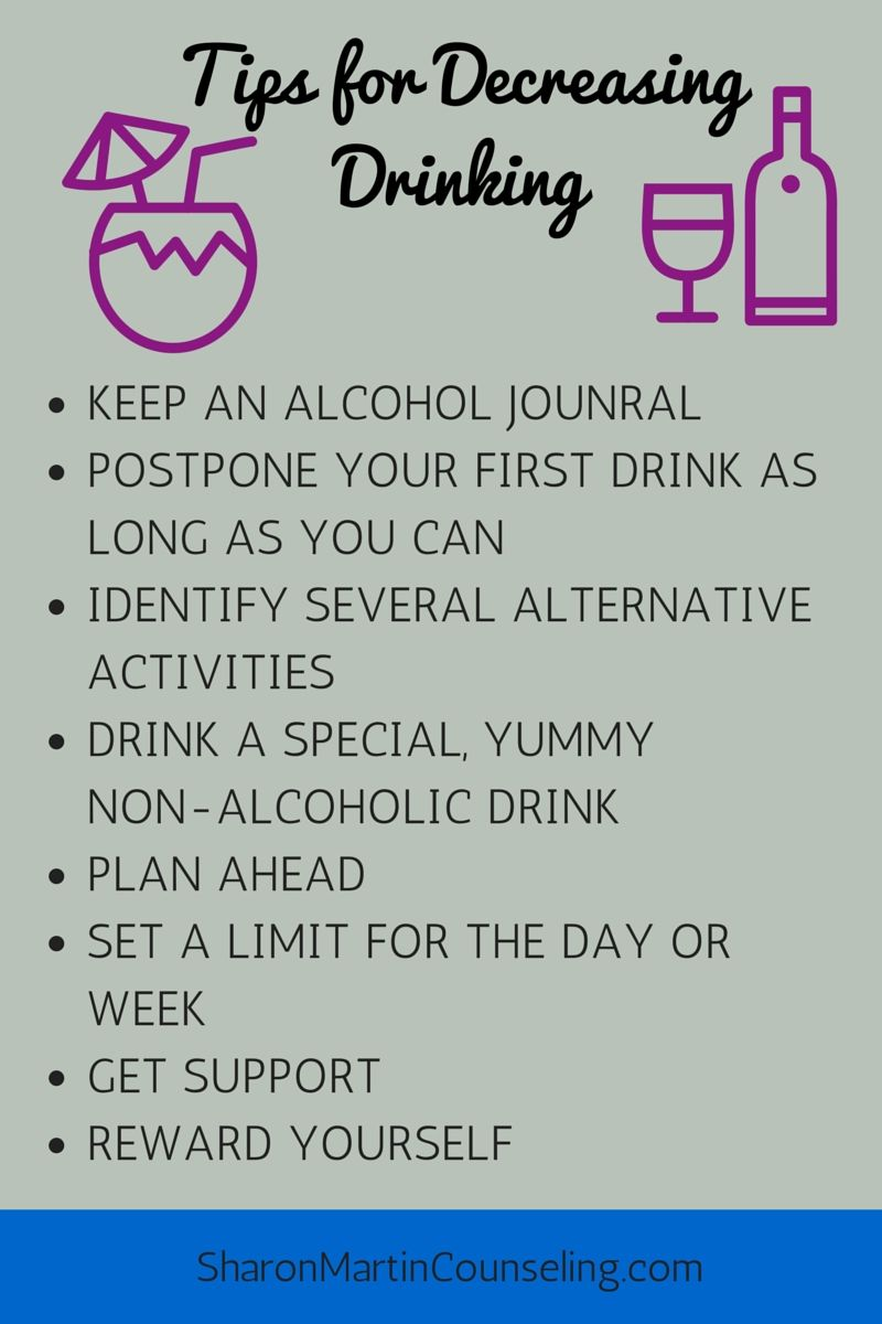 how to stop drinking alcohol tips
