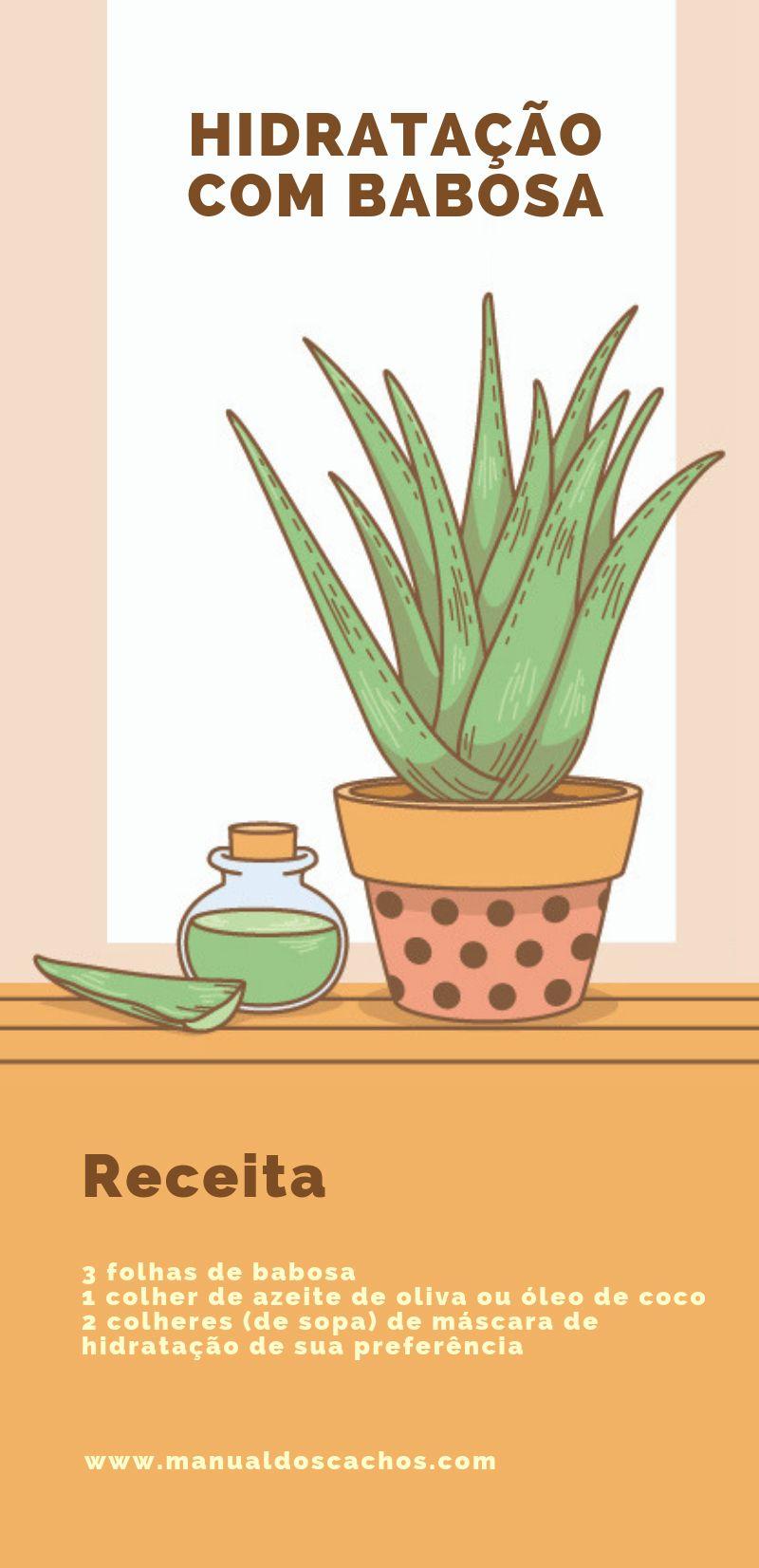 Hidratação com babosa para cabelos cacheados - Manual dos cachos