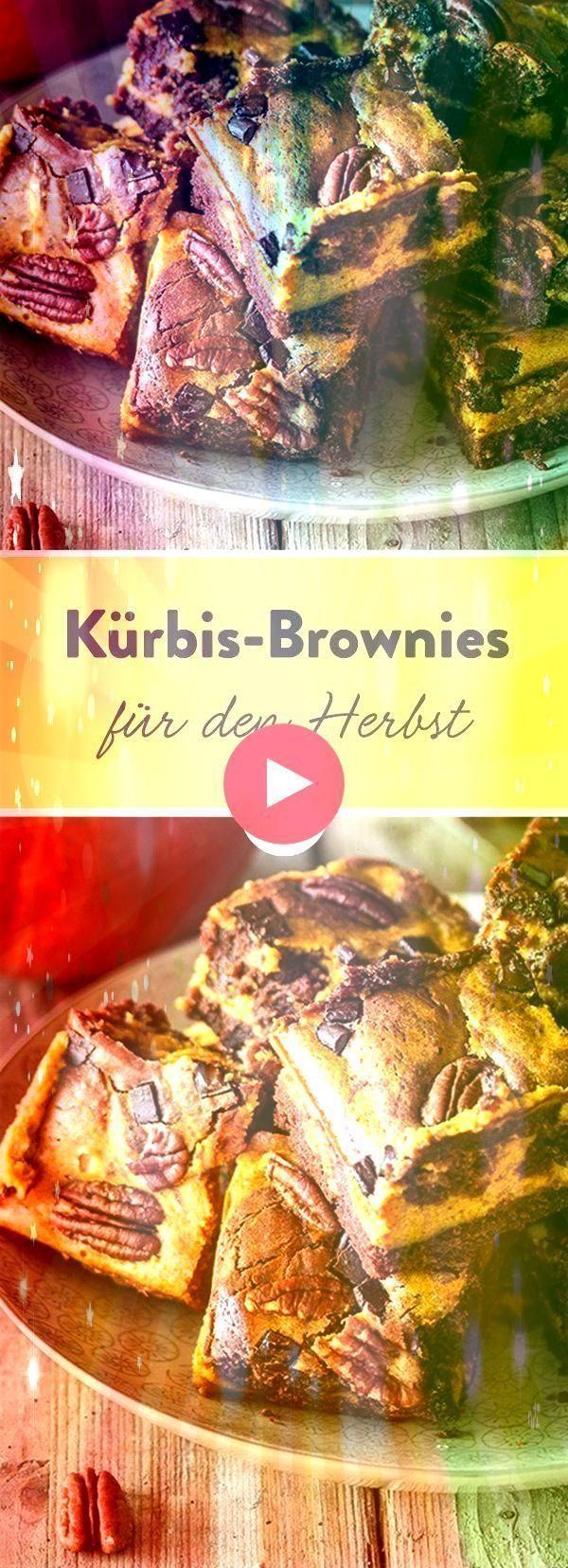 : brownies with pecans  - Kürbis Rezepte -Pumpkin brownies with pecans  - Kürbis Rezepte -  Lecke