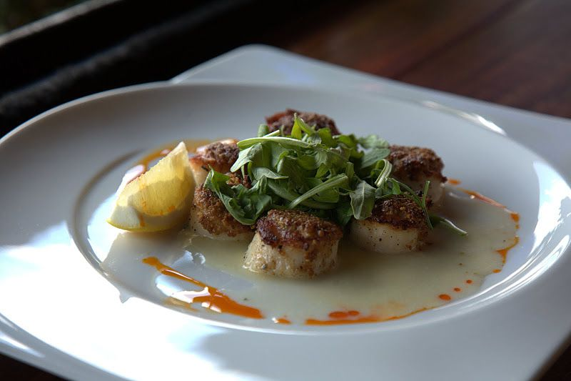 Pan roasted pistachio crusted scallops with orange for Simple yet delicious dinner recipes