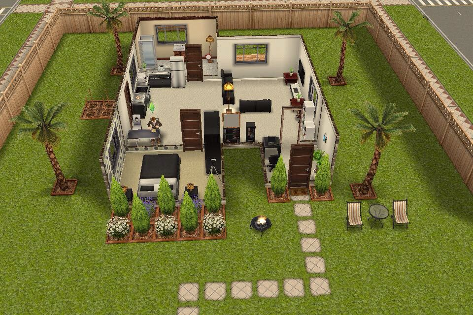 Small House In Front Sims House Sims House Design Sims Freeplay Houses