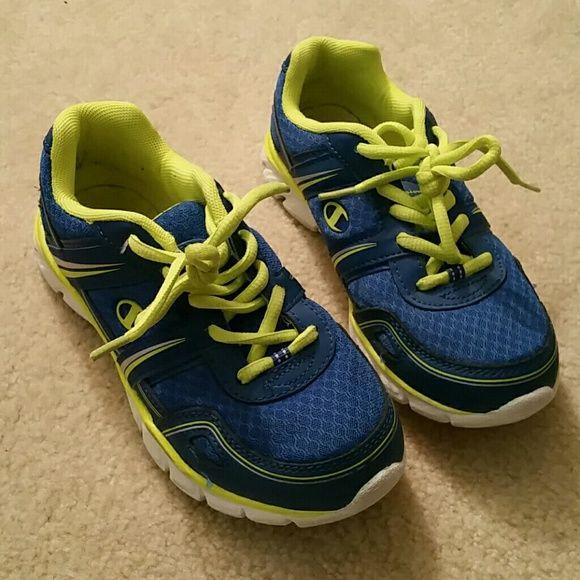 8311f9b0729 Champion boys tennis shoes Blue yellow worn once boys tennis shoes  Champions Shoes Sneakers