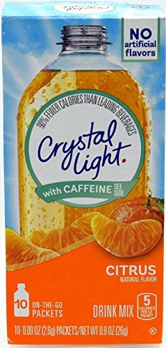 Crystal Light On The Go Citrus With Caffeine Drink Mix 10 Packet Box Pack Of 8 Congrats You Just Figured Out How To Mixed Drinks Caffeine Drinks Drinks