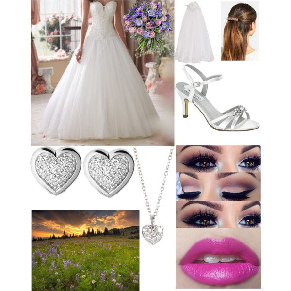 My Ideal Wedding by emilyclarke-1 on Polyvore featuring polyvore, fashion, style, Dyeables, Finn, Links of London, L. Erickson, Monsoon, Philippa Craddock and Mon Cheri