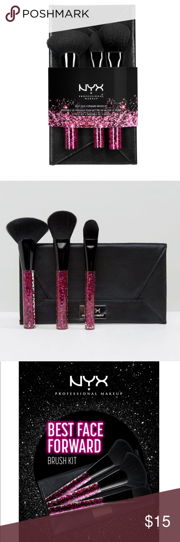 LAST ONE 💜 NYX best face forward brush kit & case