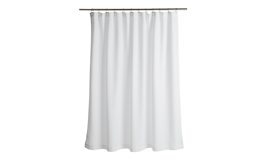 Dwr Waffle Shower Curtain Design Within Reach Designer Shower Curtains White Bathroom Accessories