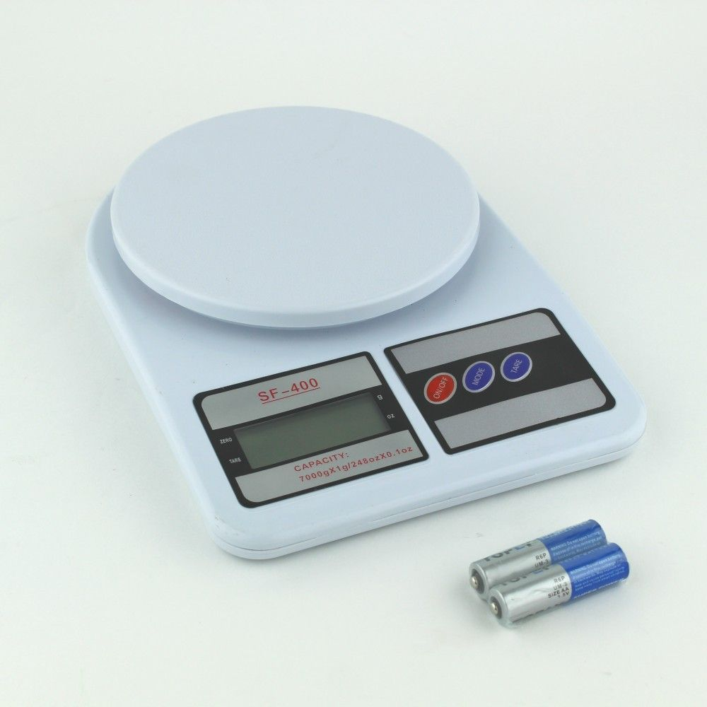 ميزان رقمى توجد خاصيه Tare يزن الوحدات جرام و انز اقل وزن 1 جرام اقصى وزن 7 كيلو يعمل ب 2 بطاريات سهل الاستخدام متوفرة لدى موقع صفقات Bathroom Scale