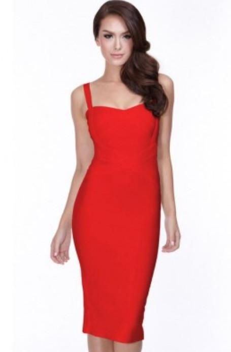 95671155b Neckline: V Neck Sleeve Lenght: Sleeveless Color: Red Type: Over Knee  Features: Bead Material: 90%rayon,9%nylon,1%spandex