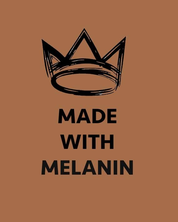 Made With Melanin Art Print Download Instant Wall Art Printable Wall Decor Black Girl Art Black Girl Magic Art Black Lives Matter Art
