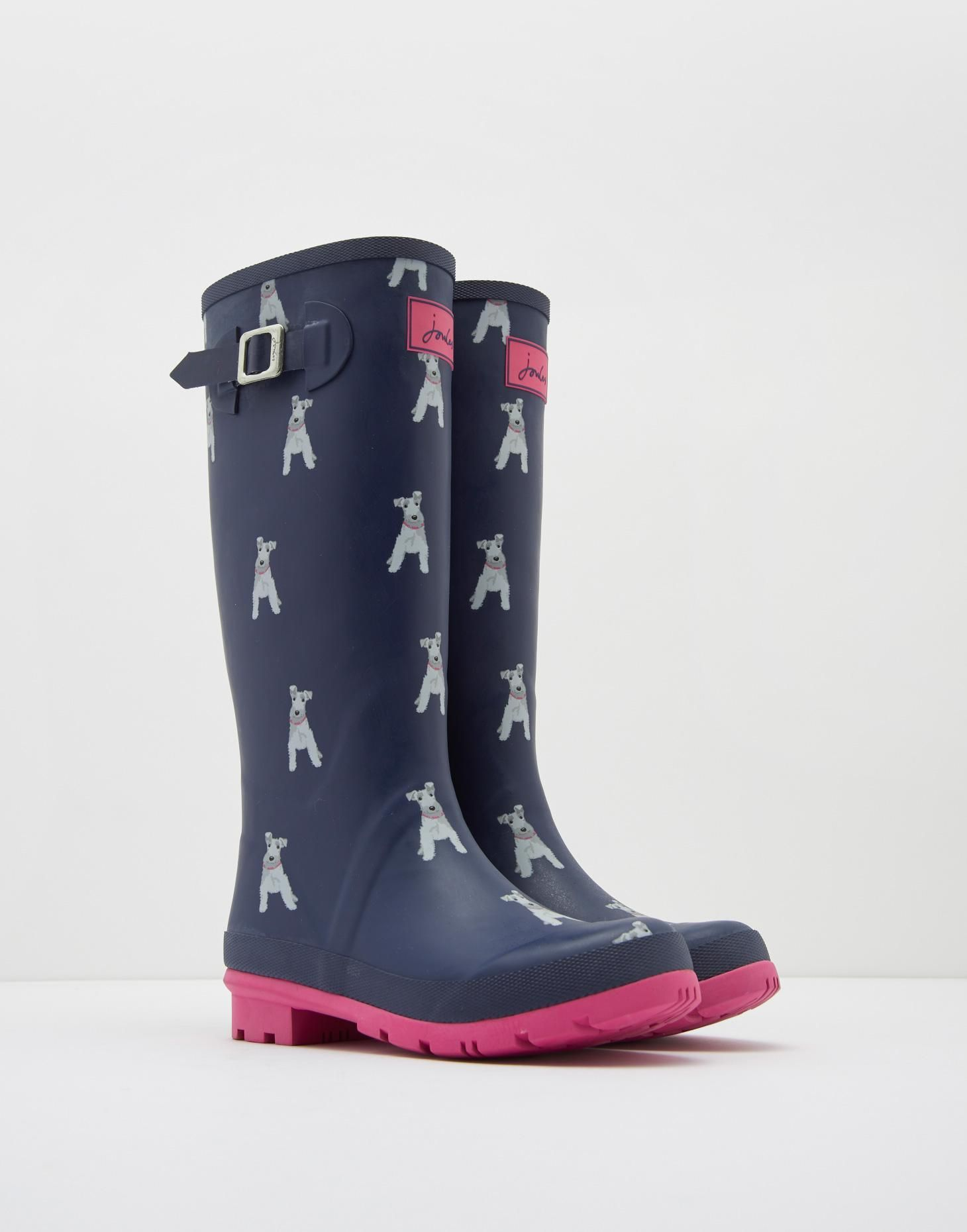 Tom Joule WELLIBOB - Wellies - fun french navy/multicolor