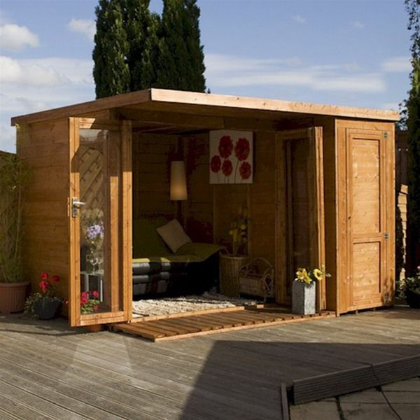 10 x 8 garden room summer house with side shed all open - Garden Sheds 8 X 3