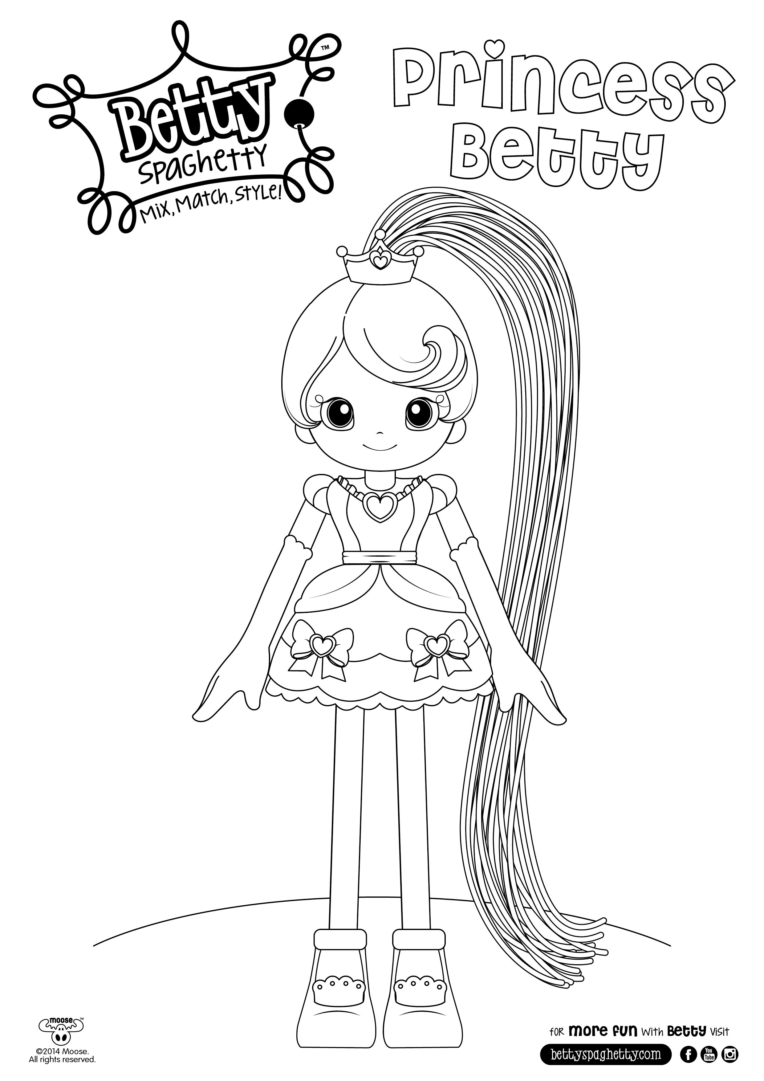Betty Spaghetti | coloring pages | Pinterest