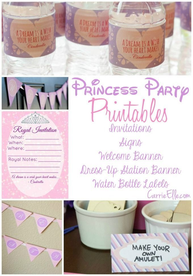 Party Like a Princess! This Sofia the First printable party pack includes…