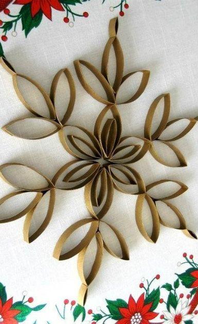 8 adornos de navidad que puedes hacer con cosas recicladas - Adornos navidenos con rollos de papel higienico ...