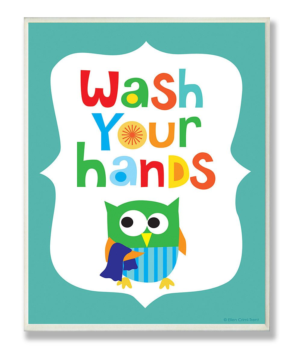 Blue bathroom wall art - Blue Wash Your Hands Wall Art Cute In Kids Bathroom