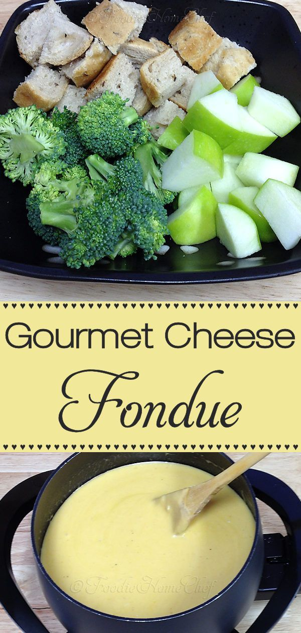 Beer based cheese fondue makes a fabulous appetizer, snack or light meal. Easy to make, fun to eat, with minimal cleanup. You'll love it & will be making it over & over again! In 1980 the Melting Pot Restaurant graciously shared their Gourmet Cheese Fondue recipe with me, which is what this recipe is based on, and now I'm sharing it with you! #Fondue #CheeseFondue #GourmetCheeseFondue #MeltingPot #Appetizer #Appetizers #Snack #Snacks #PartyFood #Food #Cooking #Recipes #Recipe #FoodieHomeChef #fondue
