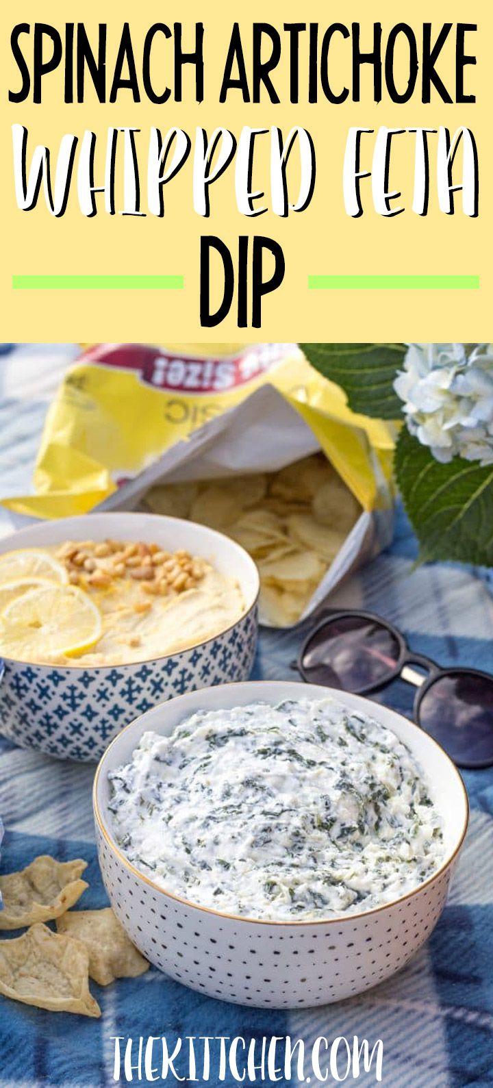 Spinach Artichoke Whipped Feta Dip And Jewel Osco Fueluradventure Recipe Whipped Feta Feta Dip Feta Cheese Recipes
