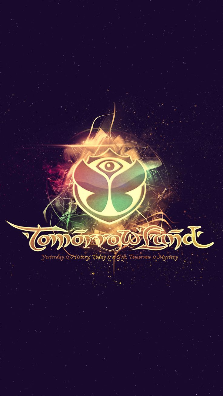 Tomorrowland Electronic Music Festival Logo Iphone 6 Plus Hd Wallpaper Music Festival Logos Electronic Music Festival Electronic Music