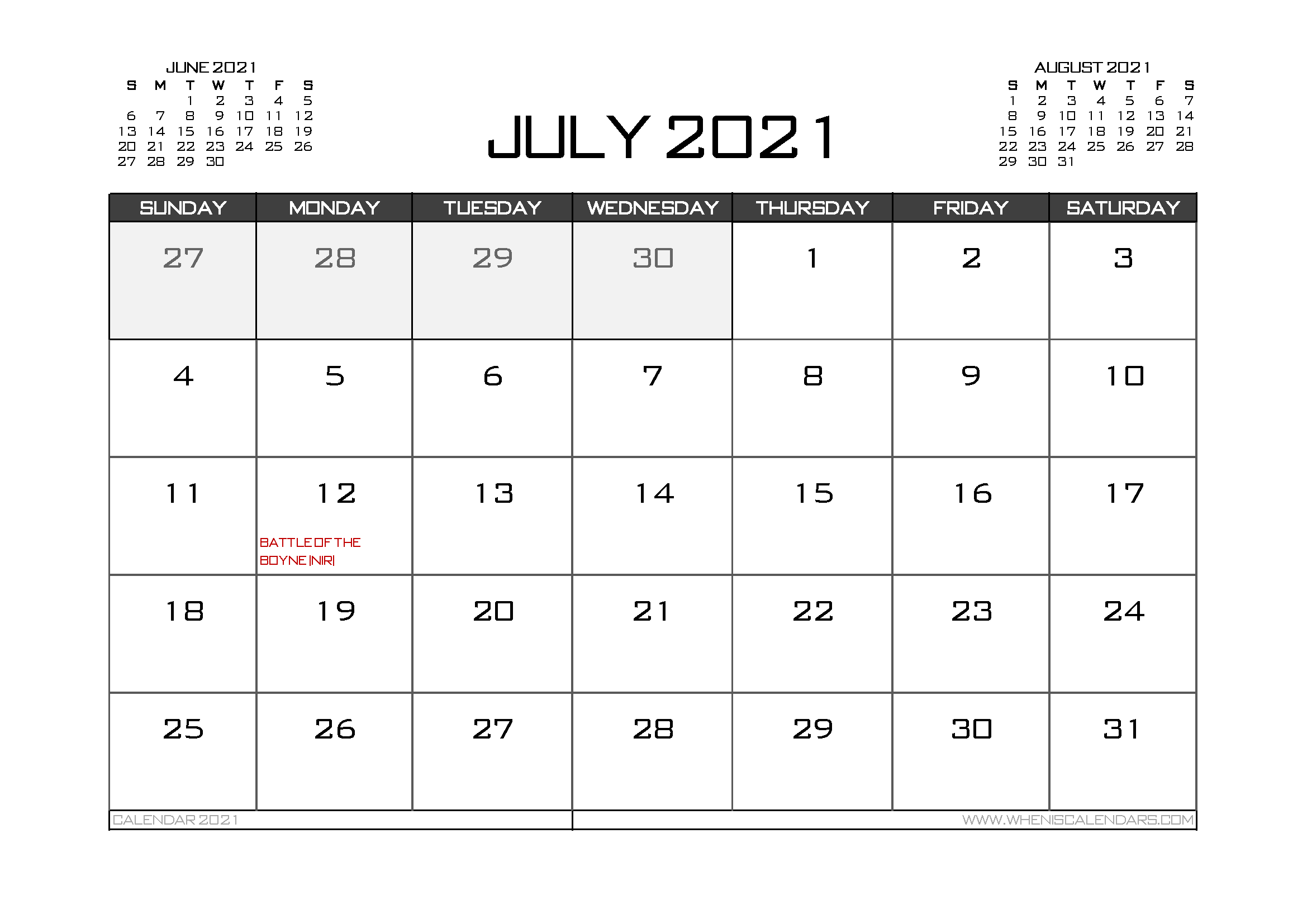 Printable July 2021 Calendar Uk In 2020 Calendar Uk 2021 Calendar Printable Calendar Template