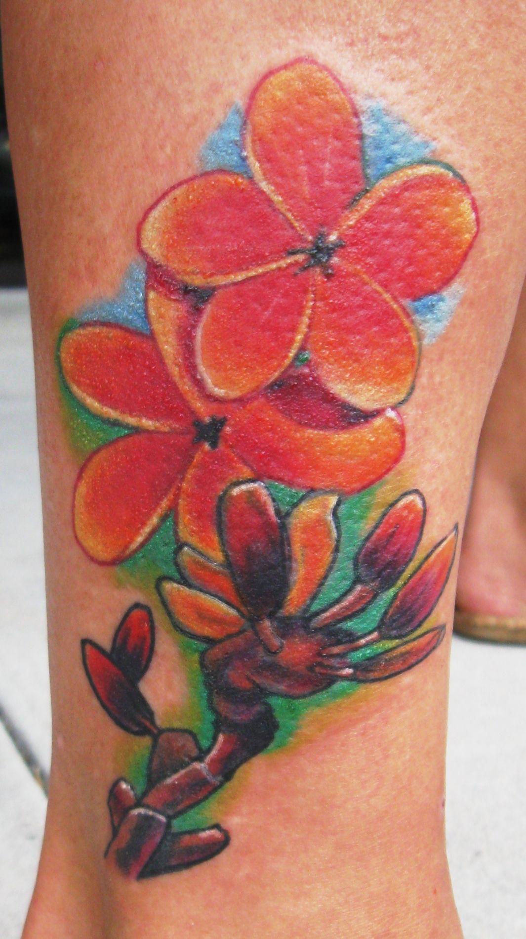 Hawaiian flower tattoo by derek raulerson tattoos hawaiianflower hawaiian flower tattoo by derek raulerson tattoos hawaiianflower hawaiianflowertattoo tattoosforwomen feminine flower izmirmasajfo
