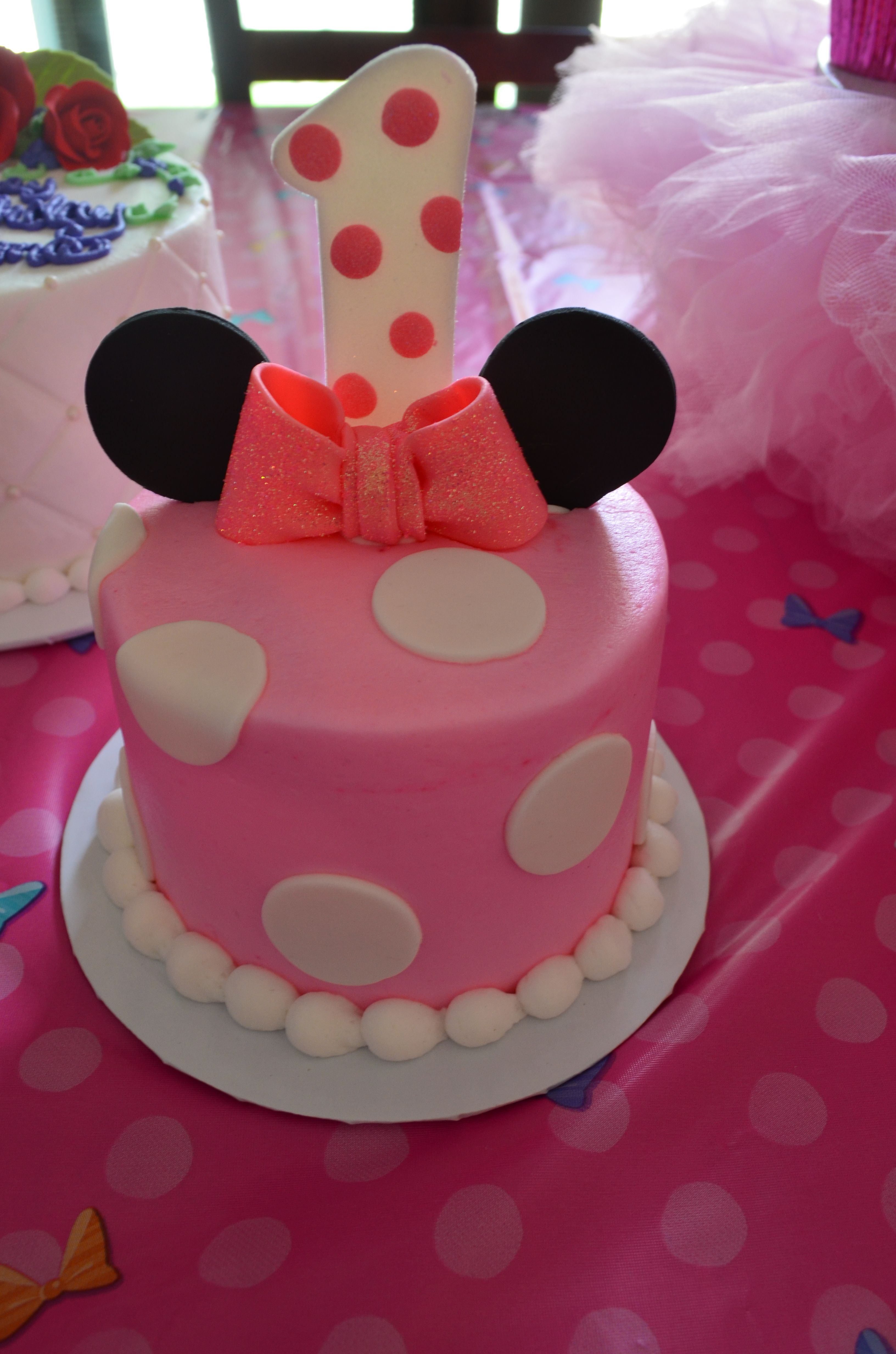 Minnie Mouse smash cake | Minnie Mouse Birthday/Baby ...