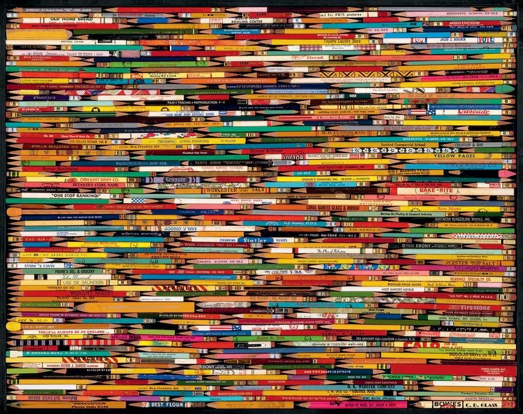 Pencil Collage - 1000pc Hard Jigsaw Puzzle by White Mountain