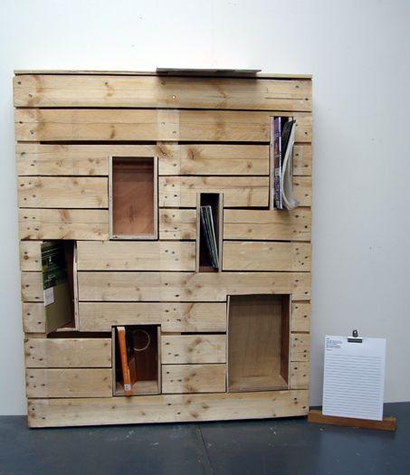 Muebles gratis con palets estanterias obra pinterest pallets - Estanterias con palet ...
