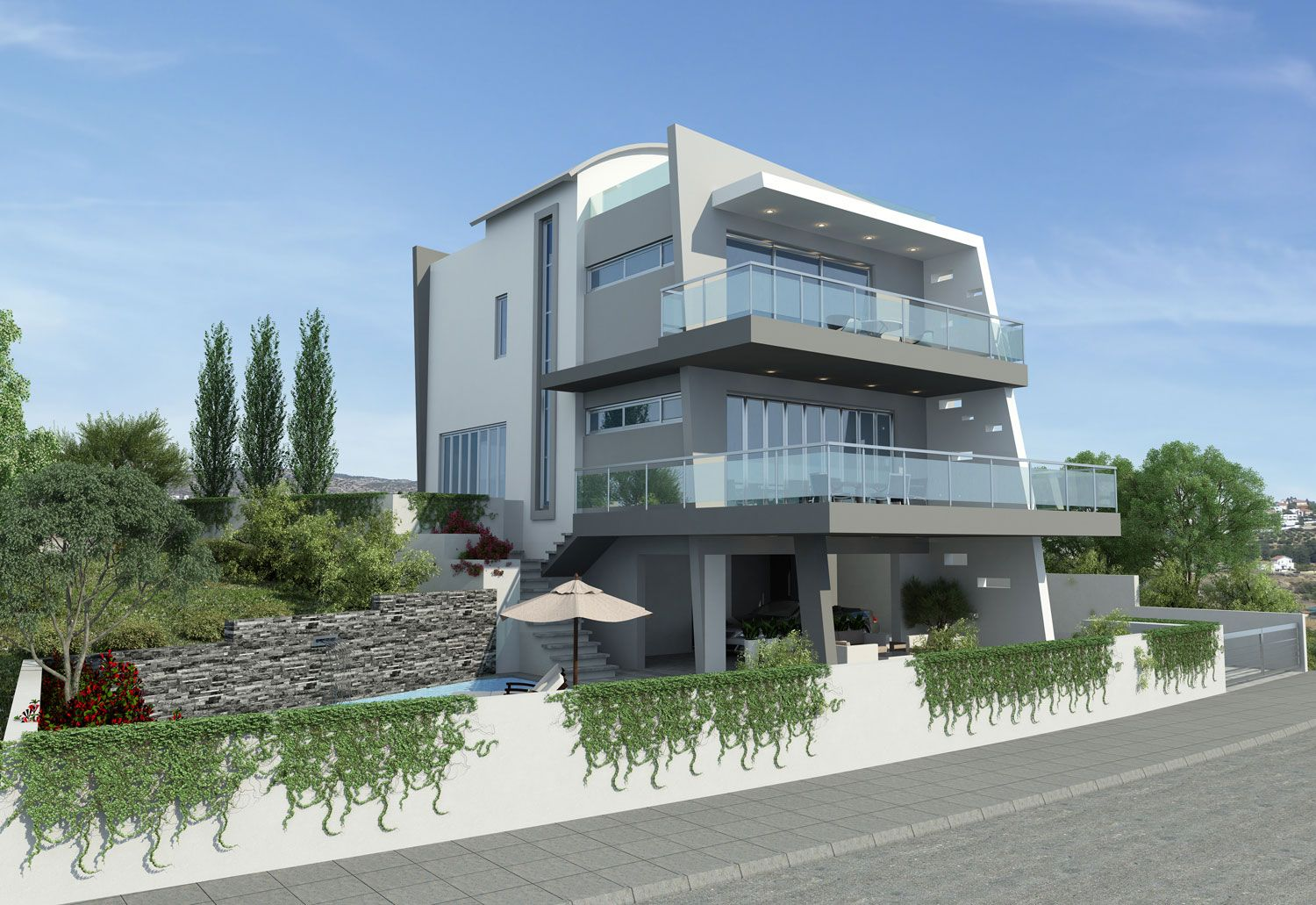 Modern Stylish Latest Homes Exterior Designs Cyprus House Plan New Home Exterior Designs