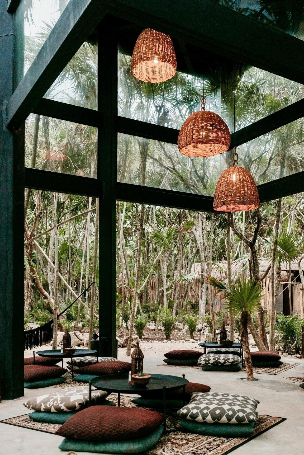Home Interior Design — Open air beach lounge in Tulum ...