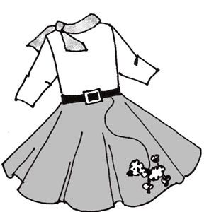 Sock Hop Coloring Pages Google Search Poodle Skirt Cute