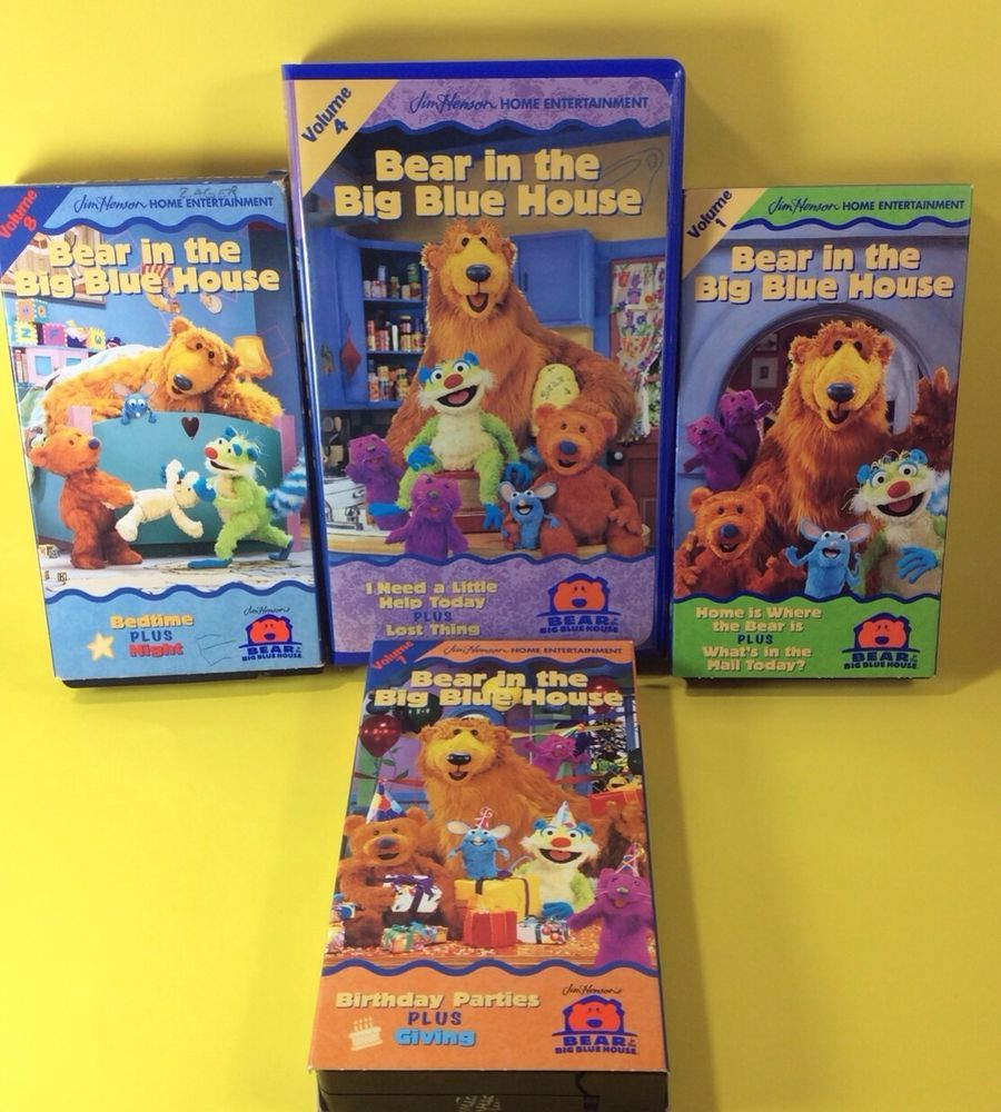 Bear In The Big Blue House 4 VHS Jim Henson Entertainment