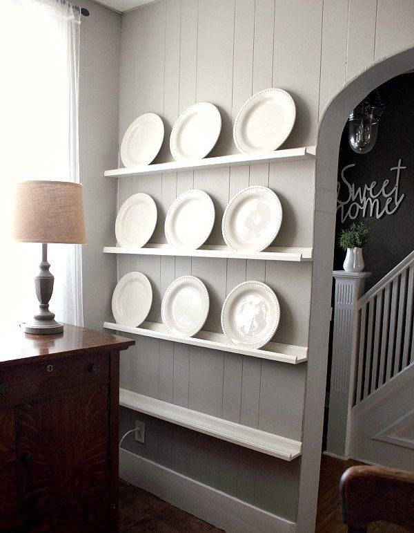 How to make a DIY plate rack in no time flat! | Ikea | Pinterest ...