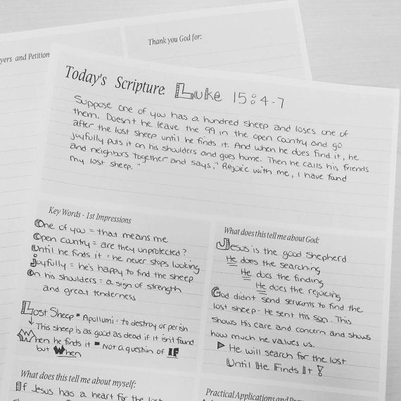 Printable Bible Study Worksheets Study Any Passage Of Scripture