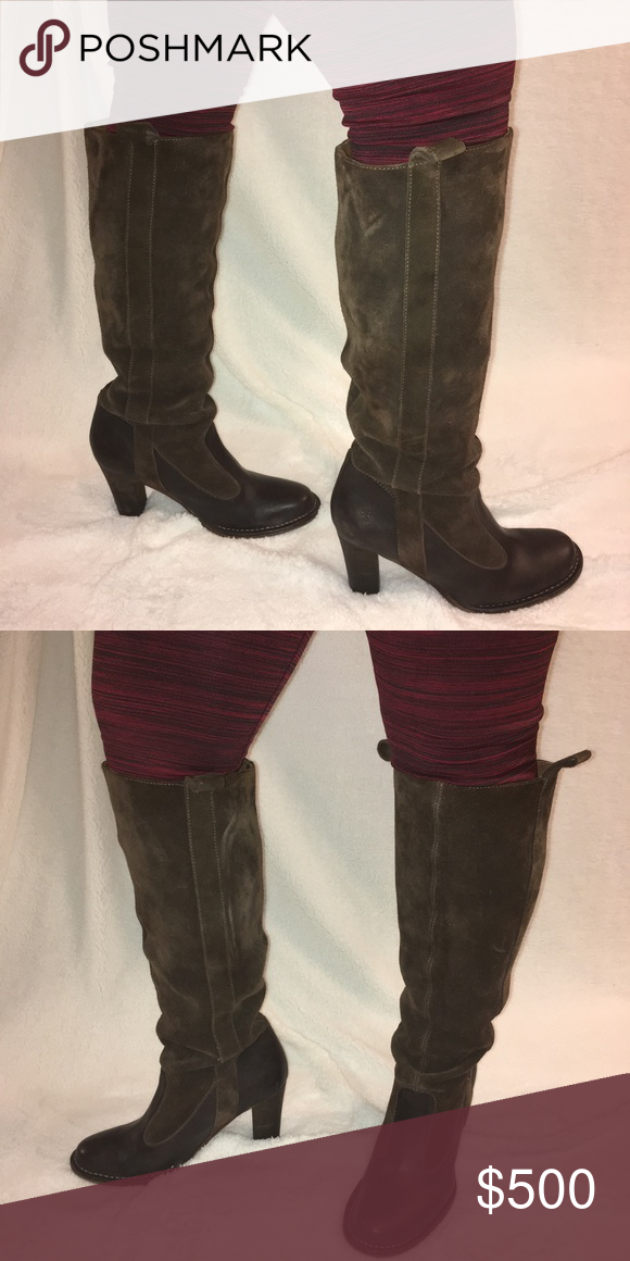 b7e09367b9 ❤️FLASH SALE❤ Frye Villager Pull On Boot    AUTHENTIC    Gorgeous brown  suede knee high boot! Pull-On style with a 3.5