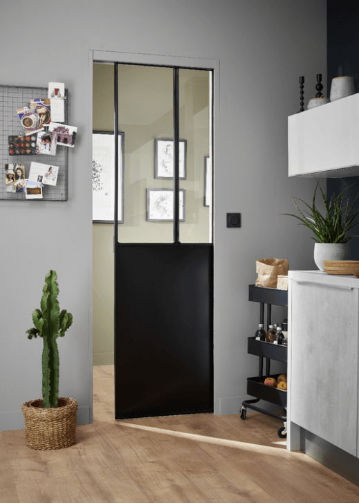 o trouver une porte coulissante atelier style verri re porte coulissante atelier lapeyre. Black Bedroom Furniture Sets. Home Design Ideas