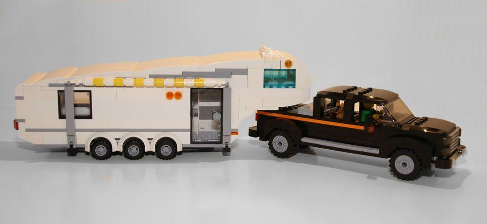 Lego Instructions To Build A Custom 5th Wheel Camper Trailer Truck