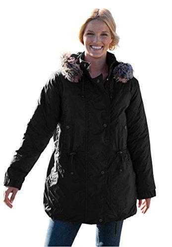 Women's Plus Size Taslon Anorak Coat With Removable Quilted Lining (Black,2X) Woman Within http://www.amazon.com/dp/B00FI2UBV8/ref=cm_sw_r_pi_dp_-er8vb1Z67D8P